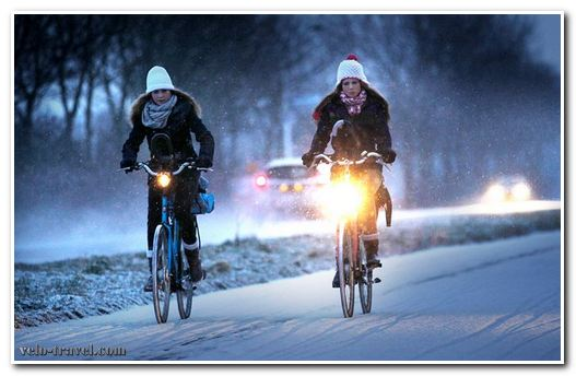 ездить на велосипеде зимой