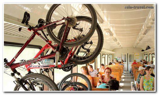 провоз велосипеда на багажной полке