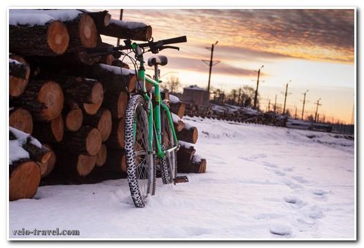 езда на велосипеде зимой