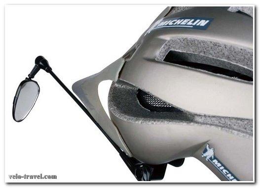 велосипедное зеркало с креплением на шлем